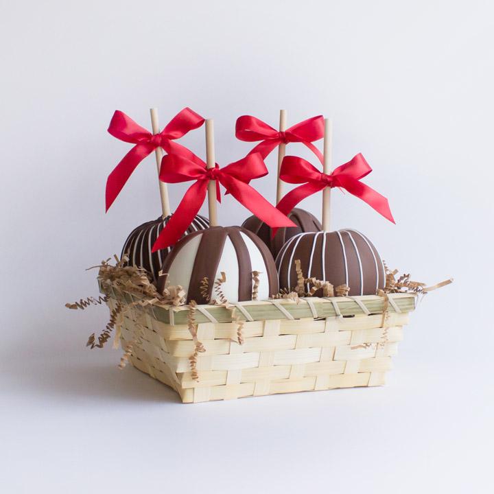 Caramel Apple Gift Basket: Chocolate Caramel Apple Gift Basket €� Katie's Caramel Apples